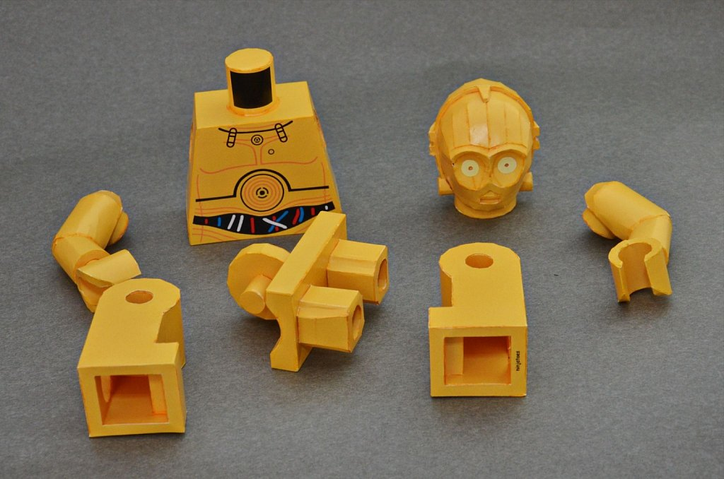 LEGO C-3PO (disassembled)
