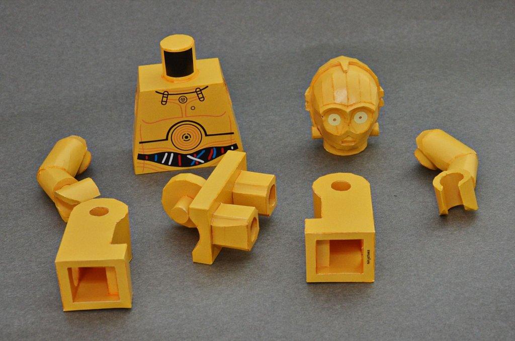 LEGO C-3PO (disassembled)